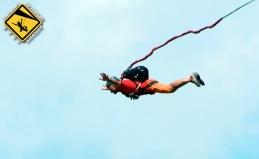 Прыжок с веревкой и камерой GoPro