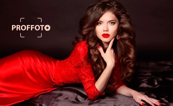 Скидка на Профессиональная фотосессия с созданием образа, макияжем, обработкой фотографий и не только в сети фотостудий «Проф-Фото». Скидка до 91%