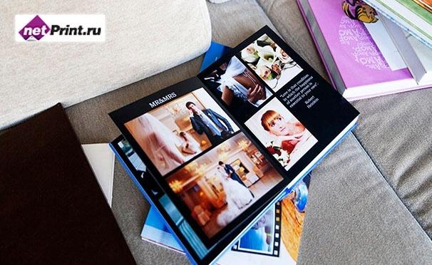 Печать фотокниг Принтбук Премиум в твердой персональной обложке 20 или 60 страниц. Скидка до 39%