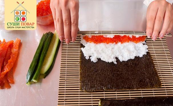 Ресторанное искусство у вас дома! Скидка до 79% на мастер-классы «Суши Старт», «Суши Интенсив NEW», а также «Хиты и десерты японской кухни» для одного или двоих от школы суши-мастерства «Суши повар»
