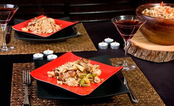 Скидка на Любые блюда из меню кухни и напитки без ограничения суммы чека в караоке-ресторане «Хан-Тенгри». Скидка 50%